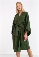 Buy Now Ready to ship / LUNA Oversized Linen Kimono Jacket / Linen Kimono Dress / Linen Kimono Robe / Linen Wrap Dress by LoveAndConfuse. Kimono Cardigan, Kimono Dress, Kimono Jacket, Knitted Coat, Bridesmaid Robes, Linen Dresses, Wrap Dresses, Linen Trousers, Linen Blouse