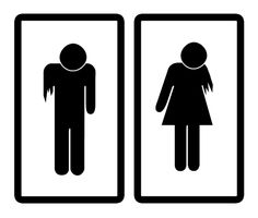 Zombie Potty Signs - Put these on bathroom door.