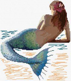 Cross Stitch   Mermaid 2 xstitch Chart   Design