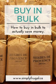Sadly sometimes our best intentions to save money by purchasing in bulk, costs us more money than we intended. Here is how to buy in bulk to actually save money. Save Money On Groceries, Healthy Groceries, Ways To Save Money, Money Tips, Money Saving Tips, Earn Money, Frugal Living Tips, Frugal Tips, Grocery Savings Tips
