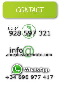 Contacta con nosotros  www.aloepluslanzarote.com