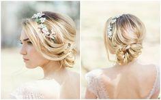 fryzury ślubne- kwiatowa opaska