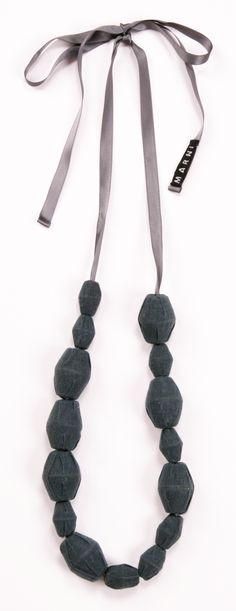 fabric coated geometric bead marni necklace. love this, both restrained and fun