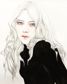 ARTIST SPOTLIGHT: Robyn Pees. Stylish #watercolor #portraits by this Dutch #artist