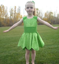 Tinkerbell costume Maybe a green pillow case cut hole for head and bottom scallop buy wings from the party store and use packing tape to add laru2026  sc 1 st  Pinterest & Tinkerbell costume: Maybe a green pillow case cut hole for head and ...