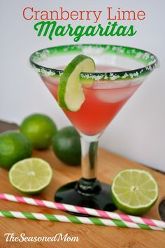 Cranberry Lime Margaritas on MyRecipeMagic.com: perfect for a Cinco de Mayo party or summer BBQ!
