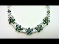 Elegant bridal necklace. Beading tutorial for beginners - YouTube