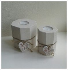 Large Chunky Wooden Tealight Holders with Shabby Chic/Deco Hearts Available Online To Buy From From the Shed For A Great Deal On Large Chunky Wooden Tealight Holders with Shabby Chic/Deco Hearts Or Any Other Unique Handmade Craft Gifts And Creative Gift Ideas Visit Stallandcraftcollective.co.uk #1213