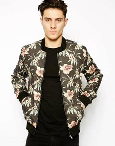 ASOS | New Look Bomber Jacket with Floral Print #asos #bomber #jacket