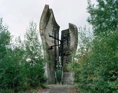 """1st PARTISANS BRIGADE MONUMENT in Brezovica, Croatia.  """"This monument is dedicated to the memory of the first partisans brigade which was formed in Croatian Brezovica forest on June 22 1941, the day the Nazis have invaded Soviet Union. Notable fact: the 1st Partisans Brigade of Brezovica was also the first anti-fascist military formation in the occupied part of the Europe.""""  Thanks to paradoxoff.com"""