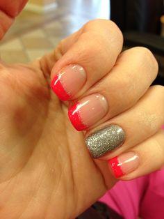 Nail design Girly Stuff, Girly Things, Beauty Nails, Hair Beauty, Minion Nails, Nail Colors, Colours, Accent Nails, Mani Pedi