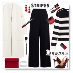 """""""Stripes."""" by gul07 ❤ liked on Polyvore featuring MANGO, BaubleBar, Zimmermann, RED Valentino, Charlotte Olympia, NARS Cosmetics, Rituals and MAC Cosmetics"""