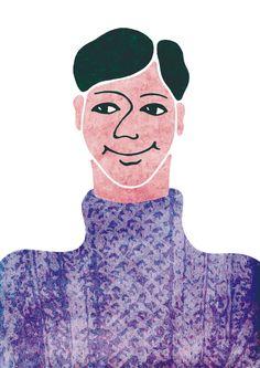 knit 2 Takagi, People Illustration, Disney Characters, Fictional Characters, Disney Princess, Knitting, Purple, Sweaters, Tricot