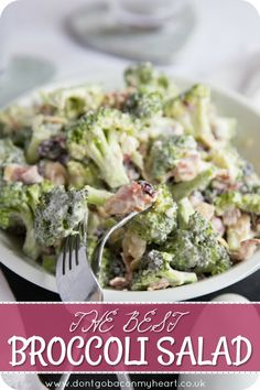 Get ready to fall in love with this Crunchy Broccoli Salad with Bacon! Featuring… Get ready to fall in love with this Crunchy Broccoli Salad with Bacon! Featuring Cranberries, Flaked Almonds & Feta, this really is simply the BEST Broccoli Salad Recipe! Crunchy Broccoli Salad, Brocolli Salad, Best Broccoli Salad Recipe, Broccoli Cranberry Salad, Broccoli Salad With Cranberries, Broccoli Cauliflower Salad, Broccoli Pasta, Salad Recipes Video, Salad Recipes For Dinner
