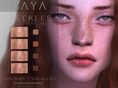 The Sims 4 SayaSims - Freckles Les Sims 4 Pc, Sims Four, Sims 4 Body Mods, Sims 4 Game Mods, Sims 4 Mods Clothes, Sims 4 Clothing, Sims 4 Tsr, Sims Cc, Maxis