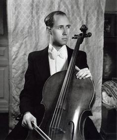 Mtislav Rostropovich.... wow this is an OLD picture.