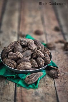 Black Cardamom from Dum Aloo (Golden fried potatoes simmered in spiced yogurt)