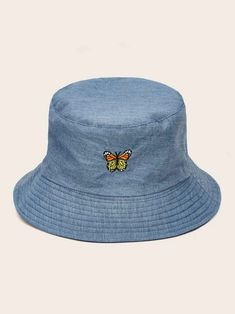 To find out about the Butterfly Embroidery Bucket Hat at SHEIN, part of our latest Hats & Gloves ready to shop online today! Hat Embroidery, Butterfly Embroidery, Mode Adidas, Accesorios Casual, Cute Hats, Aesthetic Clothes, Hats For Women, Women Accessories, Converse