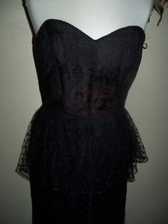Black lace peplum dress... lovely or too 1980s?