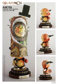 """Custom 4"""" mini munny by squarefrogdesigns.com"""
