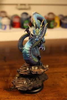 From Reddit user Tharunningdead. Malifaux Shadow Emissary. Amazing iridescence!
