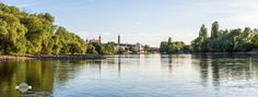 Sommer am Fluss - Es ist Sommer an der Donau in Straubing. It is summer on the Danube in Straubing.