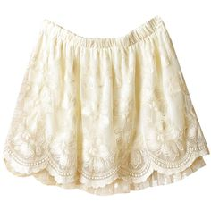 Beige Crochet Embroidery Lace Short Skirt (1.535 RUB) ❤ liked on Polyvore featuring skirts, bottoms, shorts, saias, crochet skirt, beige lace skirt, lace skirt, white embroidered skirt and lacy skirt