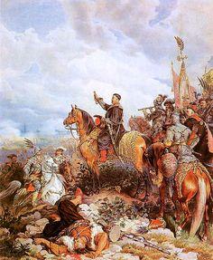King John III Sobieski blessing Polish attack on Turks in Battle of Vienna - Juliusz Kossak painting Monuments, Battle Of Vienna, Poland History, Islam, Beautiful Castles, Knights Templar, European History, Modern Warfare, Military History