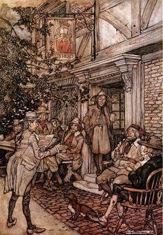 Rip Van Winkle 19, Illustration by Arthur Rackham (1867-1939, United Kingdom)