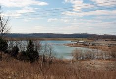 Coal ash impoundment at Possum Point, VA. Dominion Virginia Power gave notice it plans to begin drawing off surface water on May 9. (Dave Harp)