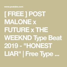 2586e9561cf937   FREE   POST MALONE x FUTURE x THE WEEKND Type Beat 2019 -