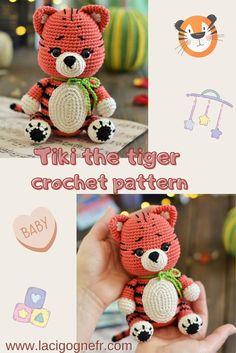 Crochet tiger pattern Amigurumi tiger toy pattern Nursery | Etsy Crochet Bee, Crochet Gifts, Cute Crochet, Crochet Toys Patterns, Amigurumi Patterns, Stuffed Toys Patterns, Diy Crochet Animals, Nursery Patterns, Amigurumi Toys