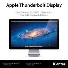 Apple Thunderbolt Display. No solamente te brinda más pixeles. Te brinda más posibilidades. Precio U$S 1.699.