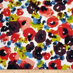 Bloom watercolor fabric