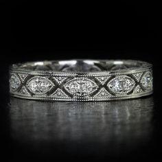 Etsy shop IvyandRoseVintage $395.00, eternity band, earth mined diamonds, 14k white gold