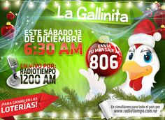 Este #Sábado de #Navidad2014 @LaGallinita806 te contará como #Ganar en la #Lotería durante todo el mes de #Diciembre