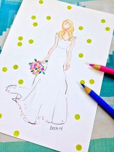 A WEDDING STORY....Maggie  #aweddingstory, #bride, #wedding, #fashionillustration