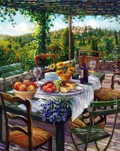Reproduction of Sung Kim garden terrace on canvas or frame is available; Handmade Sung Kim garden terrace painting is at a discount of off! Beautiful Paintings, Art World, Art Pictures, Outdoor Furniture Sets, Beautiful Places, Art Gallery, Scenery, Illustration Art, Patio