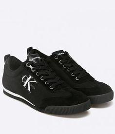 Tenisi Calvin Klein Negri Barbati Calvin Klein, Converse, Sneakers, Shoes, Fashion, Tennis, Shoe, Trainers, Moda