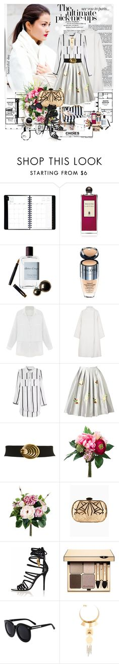 """Pick Me Up - Choies"" by marina-marry ❤ liked on Polyvore featuring AT-A-GLANCE, Woman Within, Serge Lutens, Atelier Cologne, Lancôme, Gareth Pugh, Miss Selfridge, Clarins, Helene Zubeldia and Choies"