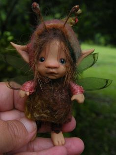 sweet choccy bug fairie fairy ooak polymer di throughthemagicdoor