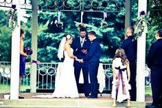 Dyana's Wedding.  At the gazebo.