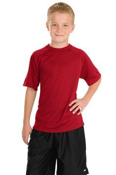 Sport-Tek Youth Dry Zone Raglan T-Shirt Y473 True Red