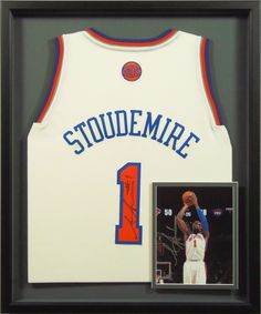 custom framed signed basketball stoudemire jersey and photograph bradleyaf