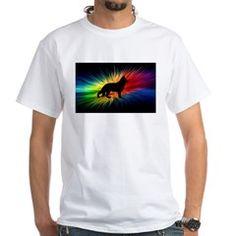 german shepherd rainbow burst T-Shirt
