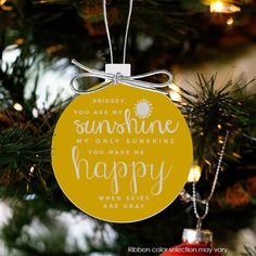 christmas ornament you are my sunshine my only by ornamentstop