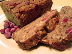Made from Scratch Cranberry Banana Bread! So yummy and it made two batches so i froze one for latter! Vegetarian Freezer Meals, Freezer Cooking, Banana Nut Bread, Banana Bread Recipes, Fall Recipes, Whole Food Recipes, Breakfast Recipes, Dessert Recipes, Desserts