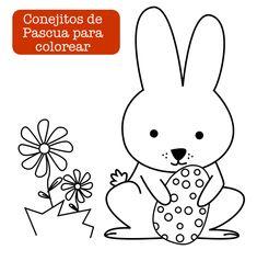 Easter. Conejito de Pascua / Easter Bunny  http://dibujos-para-colorear.euroresidentes.com/2013/03/colorear-conejitos.html