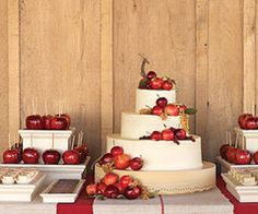 Apples and candied apples