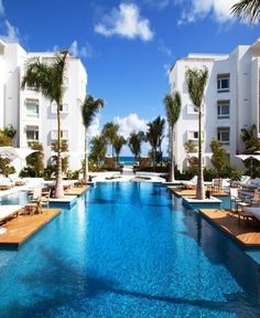 Endless pool at the Gansevoort Hotel in Turks and Caicos Islands 2015 Vacation… Need A Vacation, Vacation Places, Vacation Destinations, Dream Vacations, Vacation Spots, Places To Travel, Places To Go, Vacation Travel, Beach Hotels